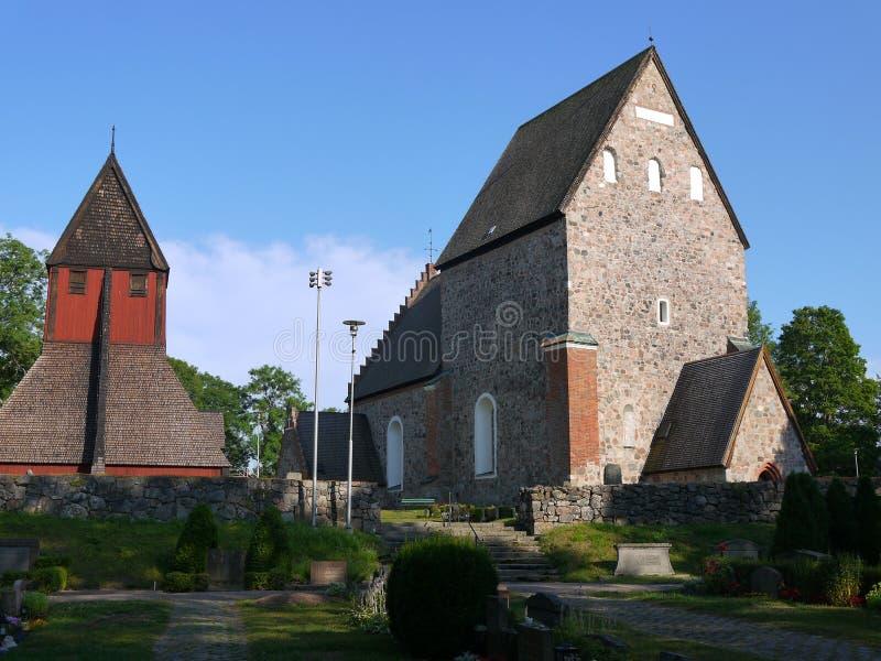 La iglesia vieja construyó el ontop de Viking Temple antiguo fotografía de archivo libre de regalías