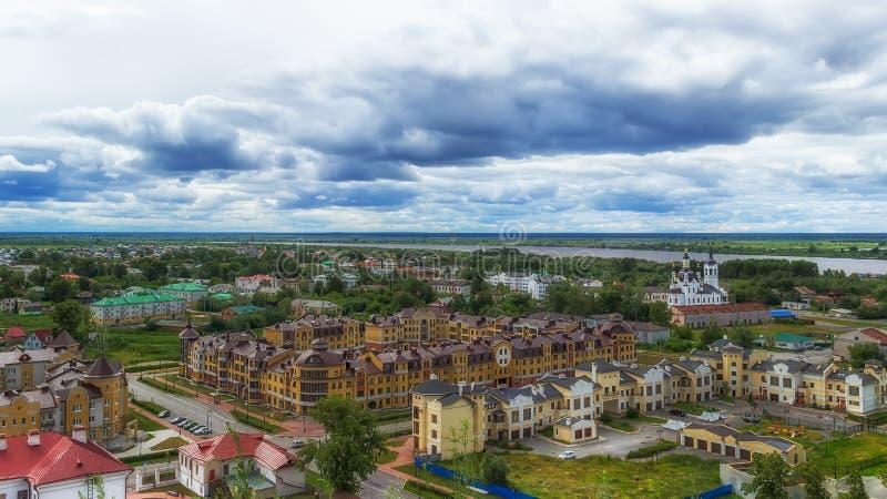 La iglesia Zachariah y Elizabeth de Tobolsk centra la visión superior imagen de archivo libre de regalías