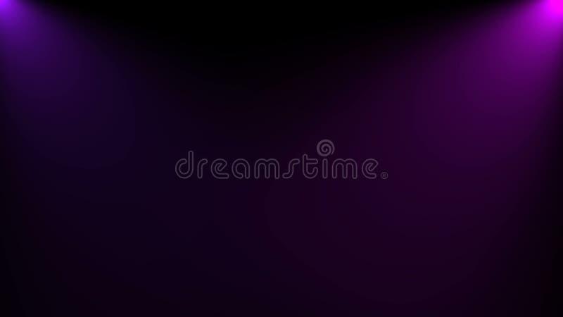 La iluminaci?n brillante de la iluminaci?n de la escena con los proyectores, 3d rinde el fondo generado por ordenador libre illustration