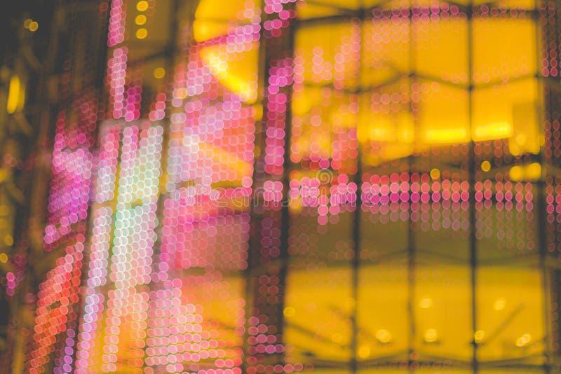 La imagen abstracta del bokeh se enciende en la ciudad de Bangkok foto de archivo libre de regalías