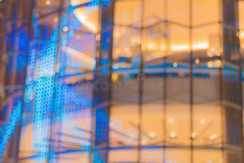 La imagen abstracta del bokeh se enciende en la ciudad de Bangkok imagen de archivo libre de regalías