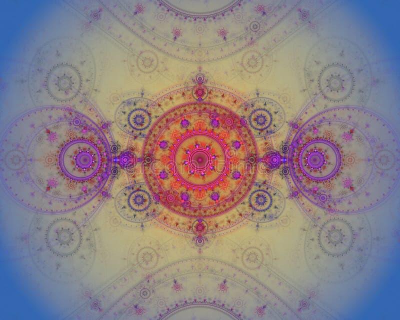 La imagen abstracta del fractal del color. ilustración del vector