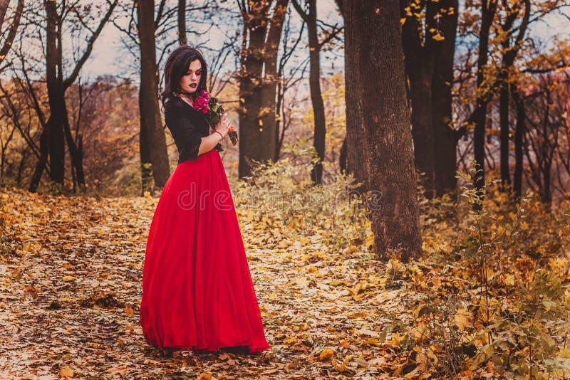 La imagen de la bruja bruja celebración Brujas del maquillaje fotos de archivo libres de regalías