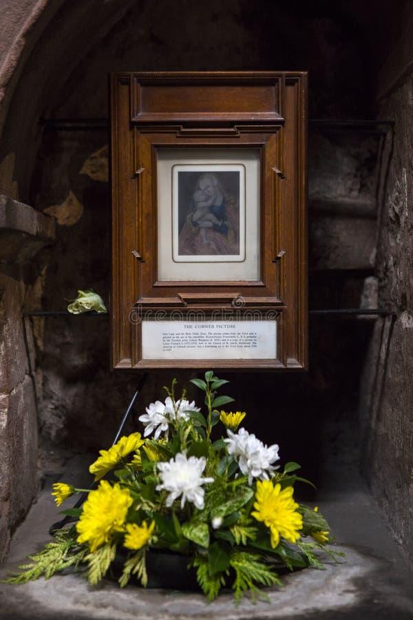 La imagen de la telaraña en Chester Cathedral imagen de archivo libre de regalías