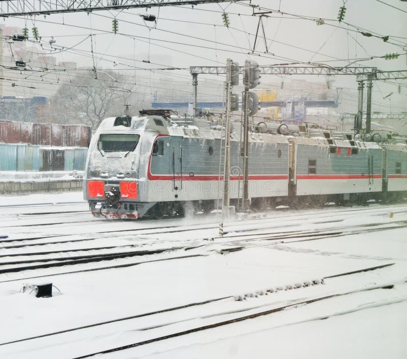 La imagen de un tren de mercancías foto de archivo libre de regalías
