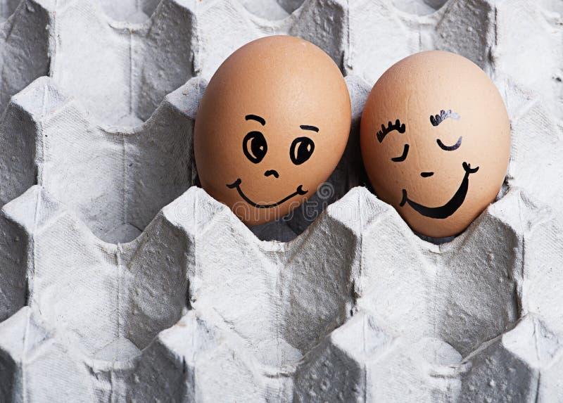 La imagen del amor eggs pares fotografía de archivo libre de regalías