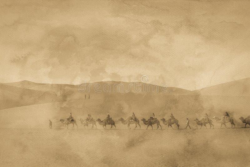 La imagen del camino de seda imágenes de archivo libres de regalías