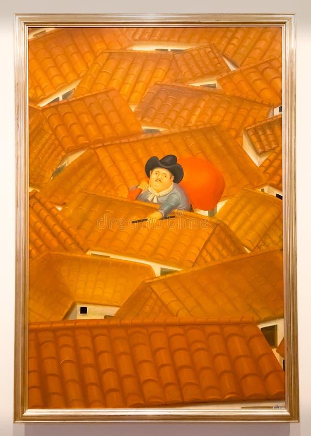 La imagen del museo de Botero de Botero dio derecho al ladrón imagenes de archivo