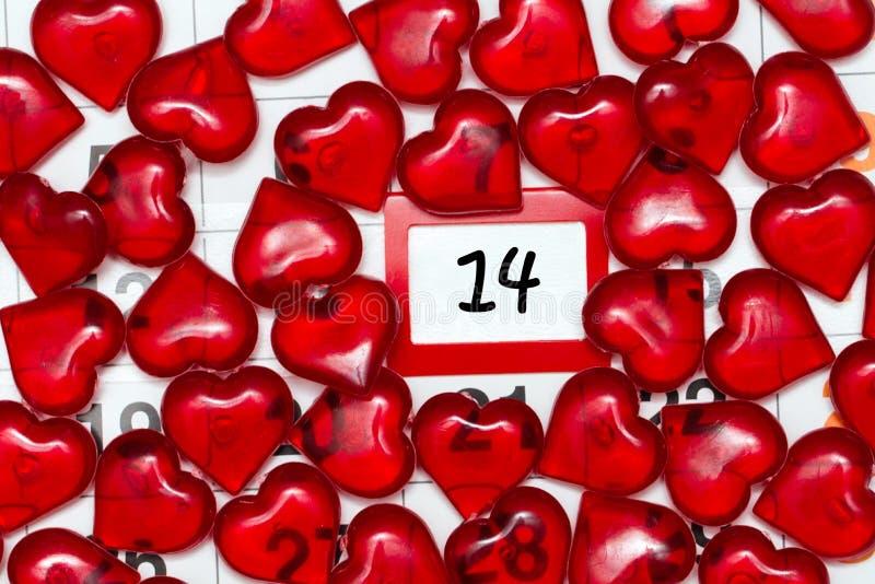 La imagen en el tema del día del ` s de la tarjeta del día de San Valentín, el 14 de febrero foto de archivo libre de regalías