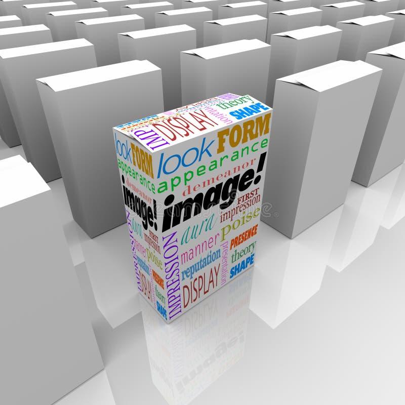 La imagen redacta publicidad bien escogida del márketing del paquete del producto la mejor ilustración del vector