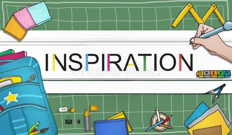 La imaginación de la aspiración de la inspiración inspira concepto ideal stock de ilustración