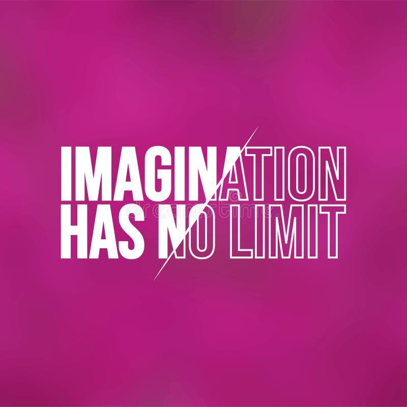 La imaginación no tiene ningún límite Cita de la vida con vector moderno del fondo libre illustration