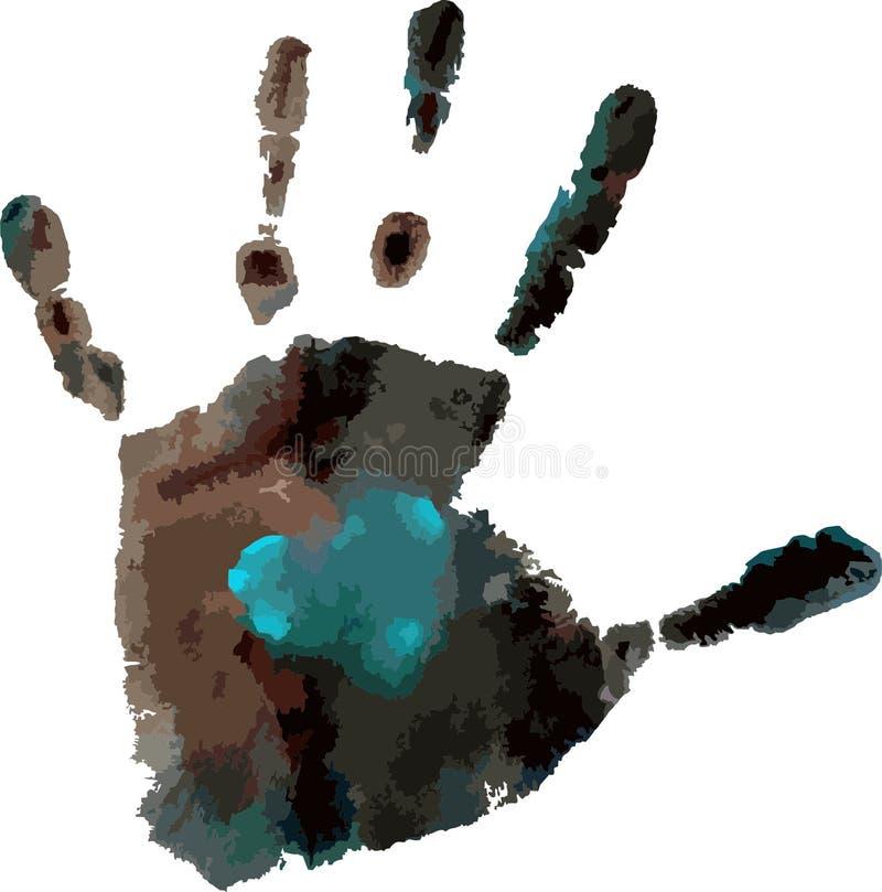 La impresión de la palma imagen de archivo libre de regalías