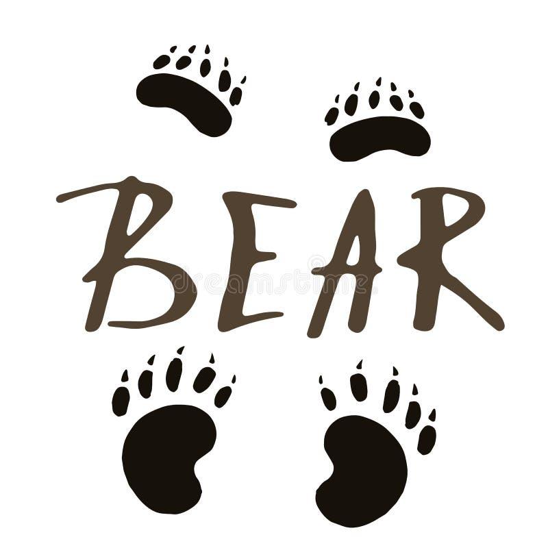La impresión de la pata de un oso libre illustration