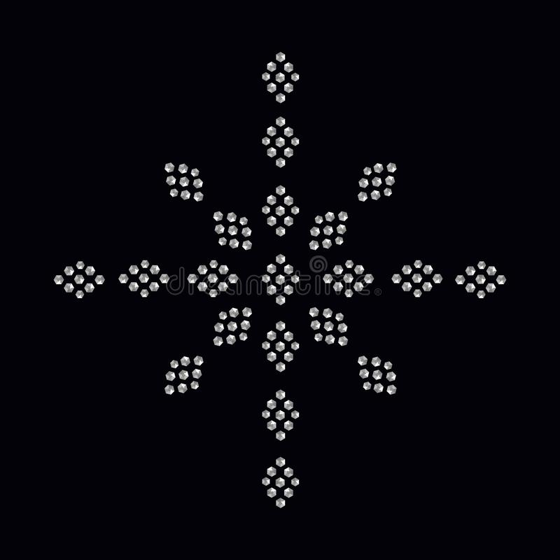 La impresión del applique del diamante artificial para la materia textil viste en lujo de la moda libre illustration