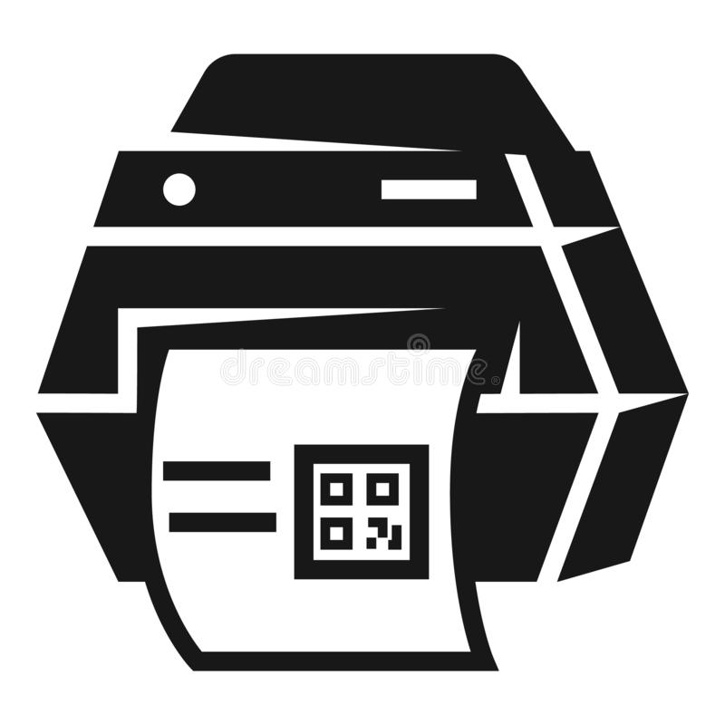 La impresora imprimió el icono, estilo simple ilustración del vector