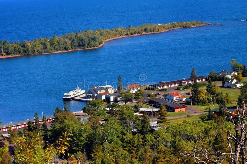 Muelle para el barco real de la isla imagen de archivo libre de regalías