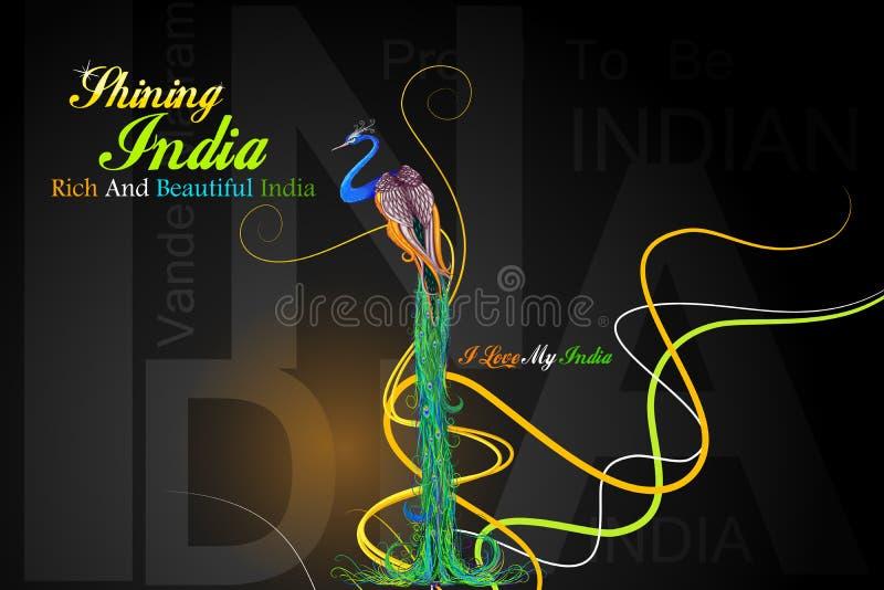 La India colorida stock de ilustración