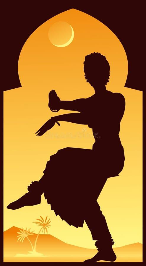 La India, danza india stock de ilustración