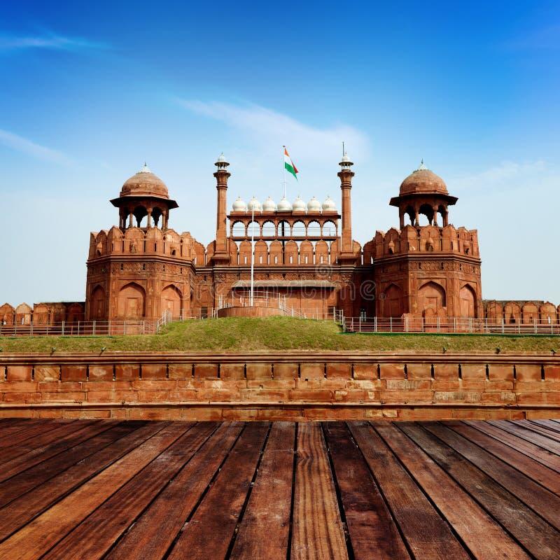 La INDIA, DELHI, la fortaleza roja imagenes de archivo