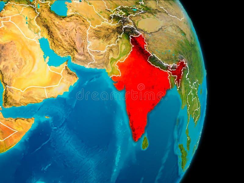 La India en la tierra ilustración del vector