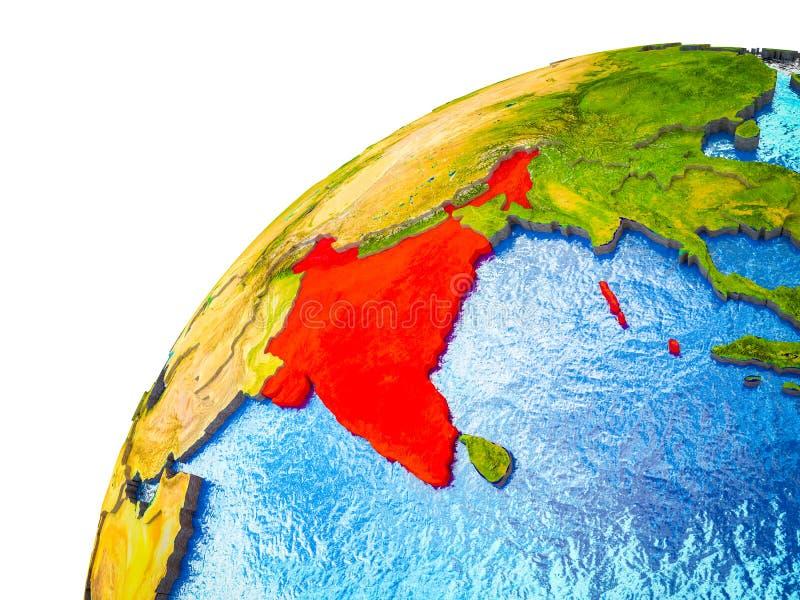 La India en la tierra 3D libre illustration