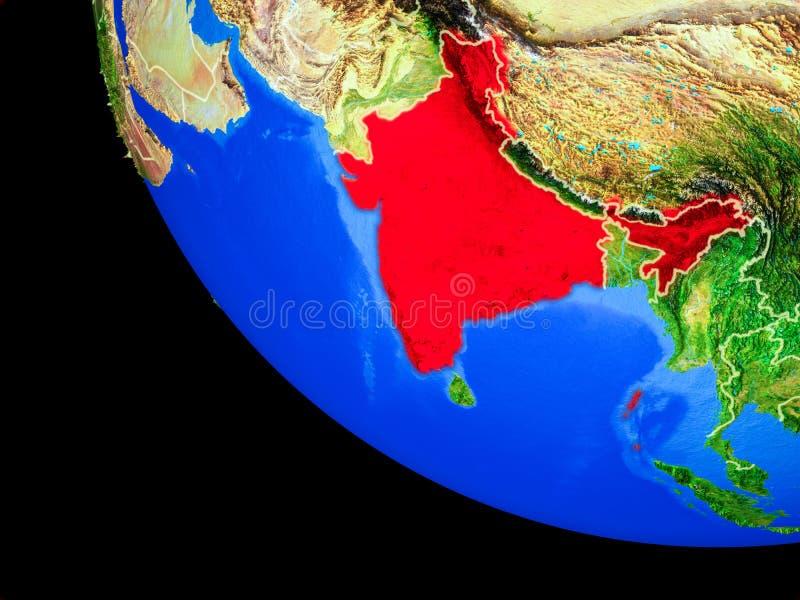 La India en la tierra del espacio libre illustration
