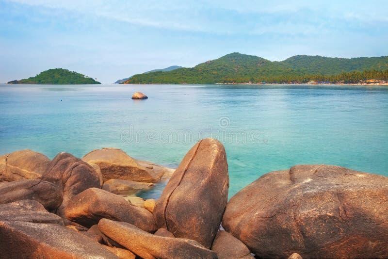 La India, Goa, playa de Palolem foto de archivo