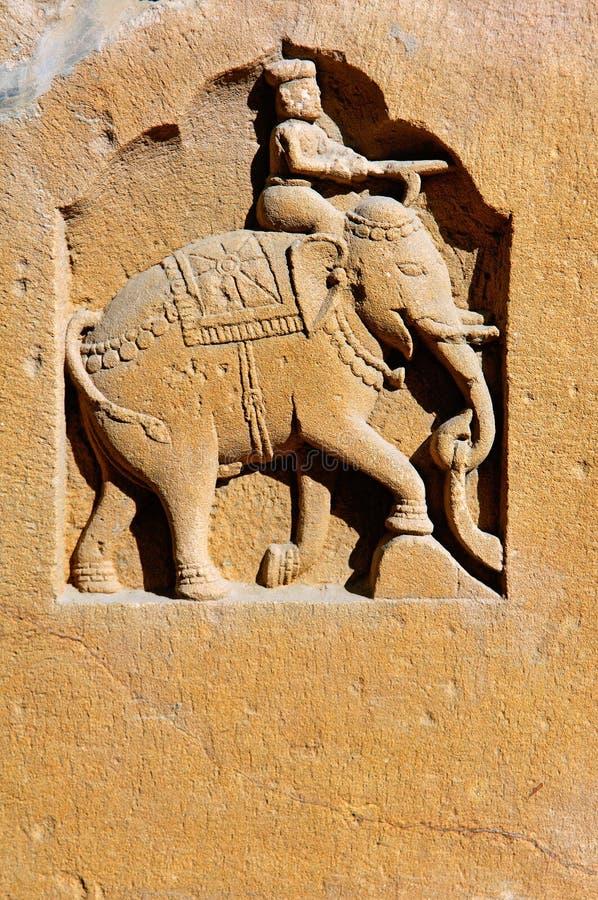 La India, Rajasthán, Jaisalmer: pequeña estatua foto de archivo libre de regalías