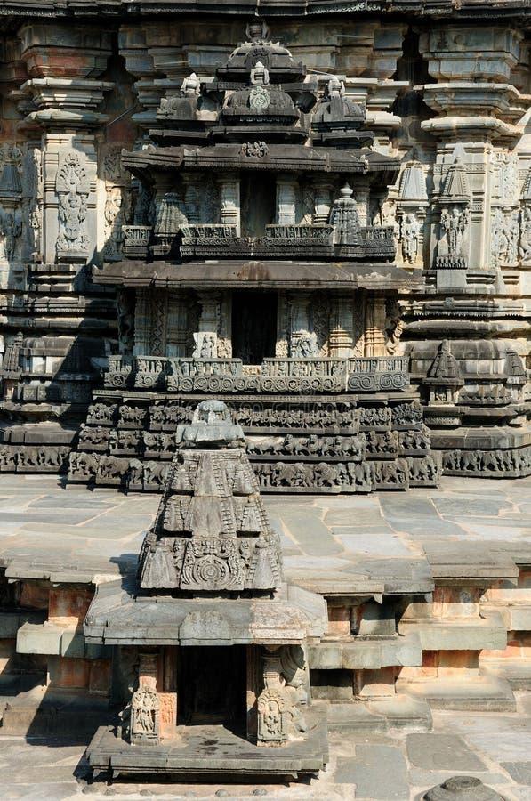 La India, templo de Chennakesava en Hassan foto de archivo libre de regalías
