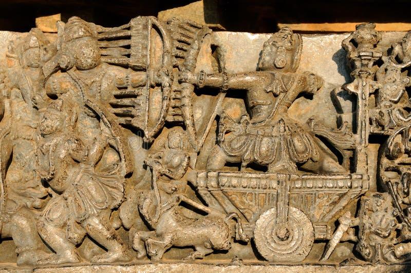 La India, templo de Chennakesava en Hassan imagen de archivo