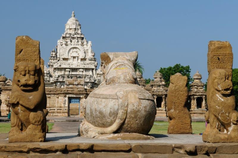 La India - templo de Kailasanathar fotografía de archivo libre de regalías