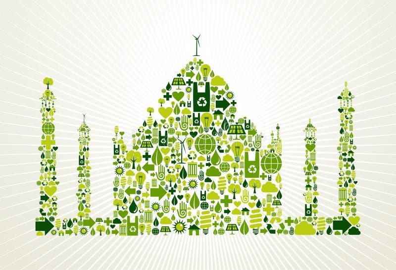 La India va ilustración verde del concepto ilustración del vector