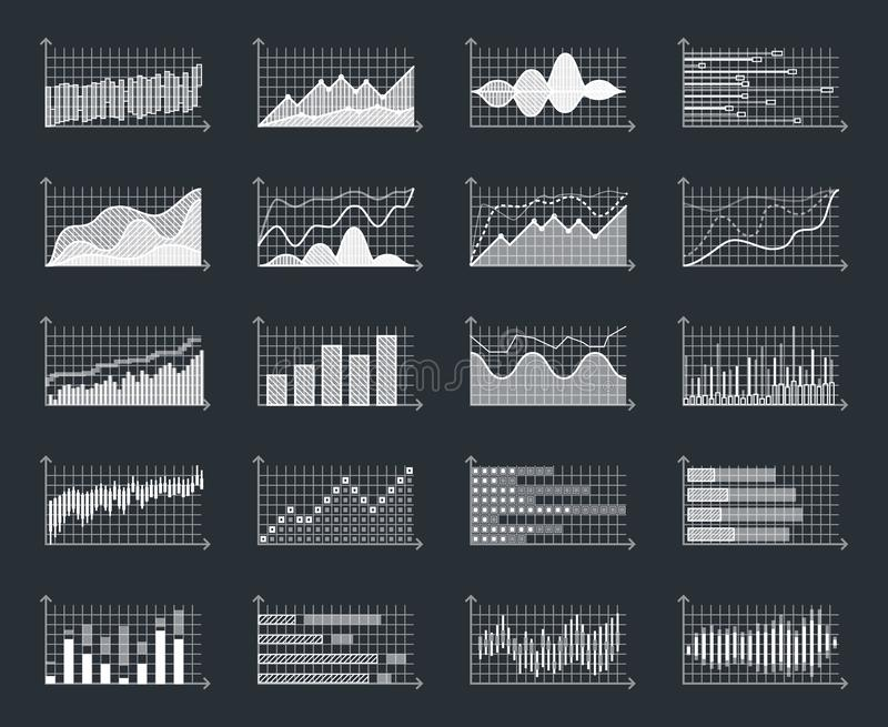 La información de mercado financiero del negocio representa vector infographic del diagrama gráficamente del crecimiento del conc ilustración del vector