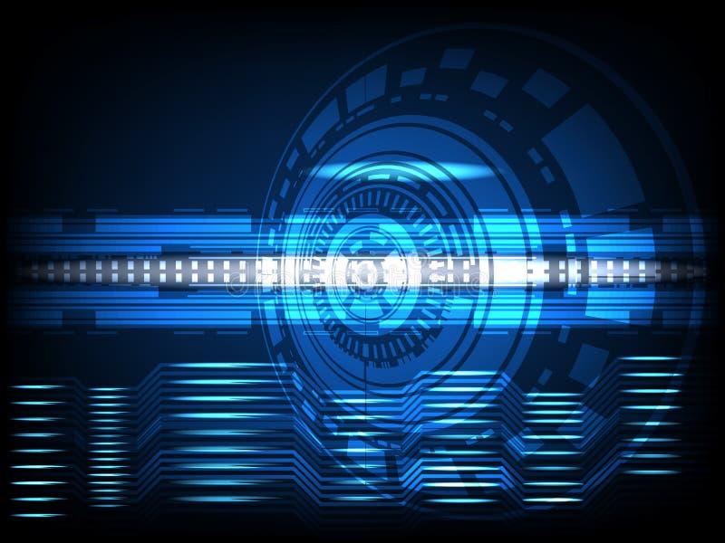 La innovación abstracta del concepto del círculo conecta la línea digital ingeniería en el comm futuro de la red de ordenadores d ilustración del vector