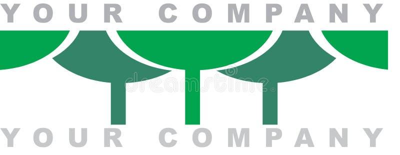 La insignia del bosque stock de ilustración