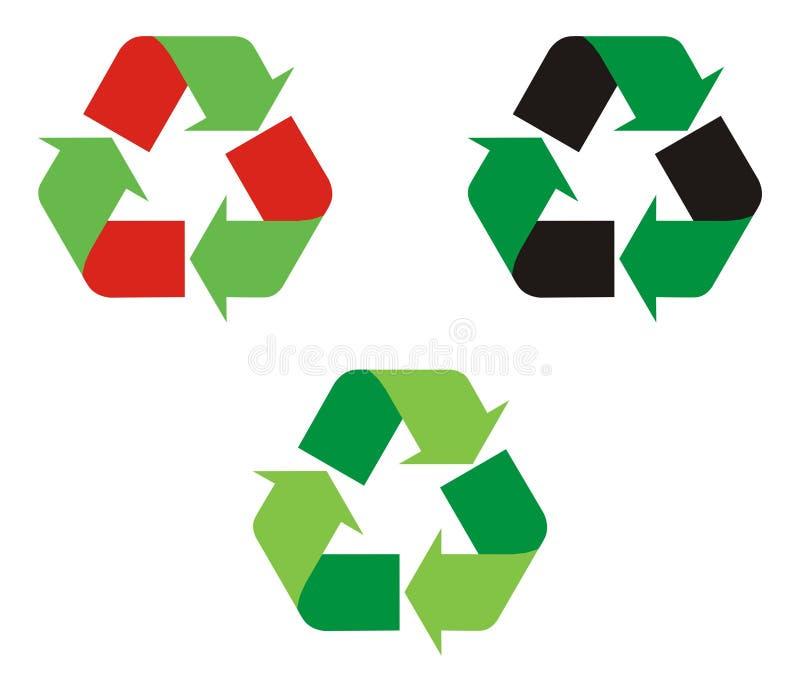 La insignia recicla ilustración del vector