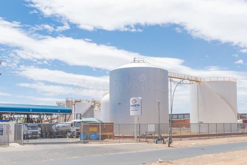 La instalación del almacenamiento de combustible en Hamilton en Bloemfontein imágenes de archivo libres de regalías