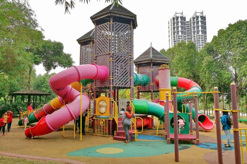 La instalación del patio situada en Cyberjaya Malasia fotos de archivo
