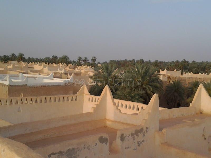La inteligencia arquitectónica de la ciudad de Ghadames fotografía de archivo libre de regalías