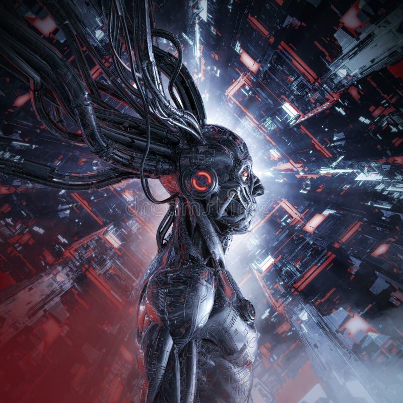 La inteligencia artificial personificó ilustración del vector
