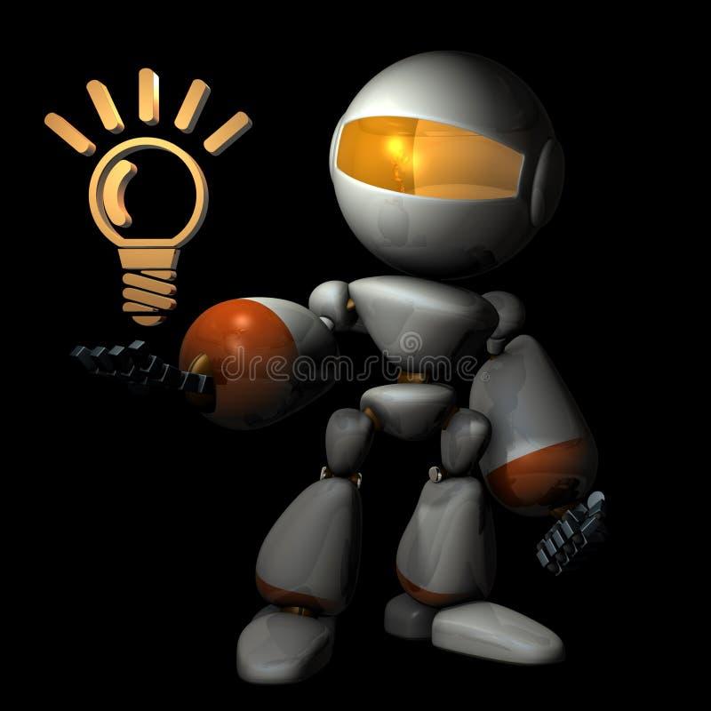La inteligencia artificial subió con algo las nuevas ideas ejemplo 3D, ilustración del vector