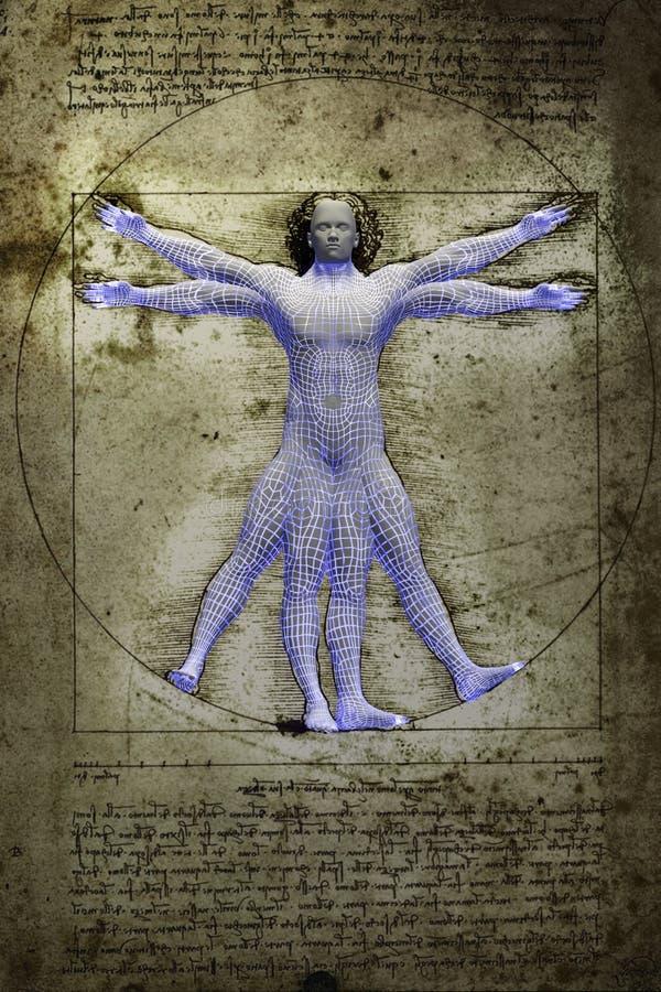 La inteligencia artificial virtuvian imagen de archivo libre de regalías