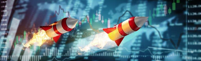 La inversión del mercado de acción financia traiding libre illustration