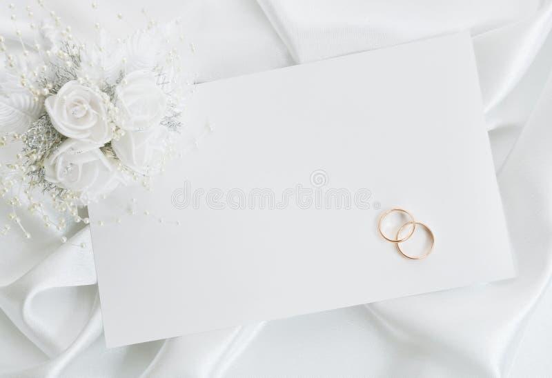 La invitación de la boda foto de archivo libre de regalías