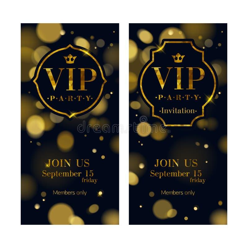 La invitación del VIP carda la plantilla superior del diseño ilustración del vector