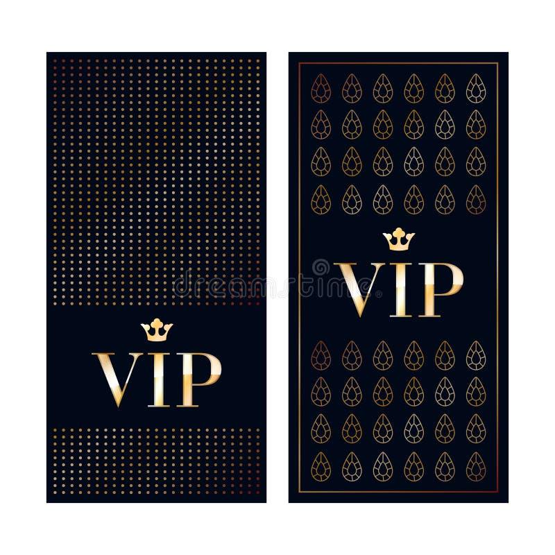 La invitación del VIP carda plantillas superiores del diseño stock de ilustración