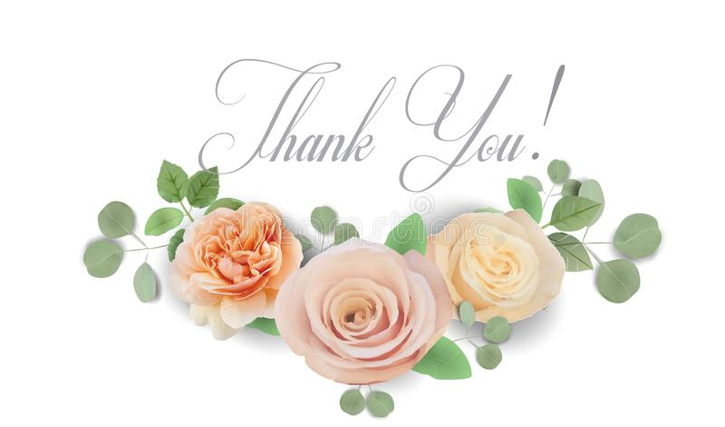 La invitaci?n que se casa floral elegante invita, gracias, rsvp, ahorran la fecha, tarjeta nupcial de la ducha ilustración del vector
