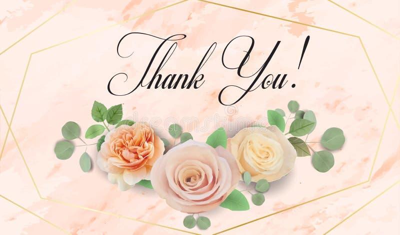 La invitaci?n que se casa floral elegante invita, gracias, rsvp, ahorran la fecha, tarjeta nupcial de la ducha libre illustration