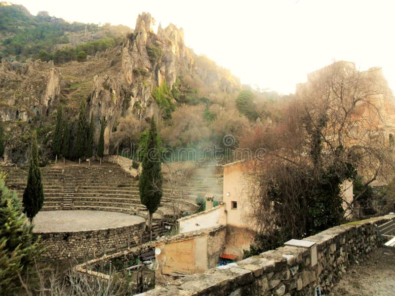 La Iruela-Sierra de Cazorla-Jaen-Amphitheater. A La Iruela-Sierra de Cazorla-Jaen -Andalusia-Amphitheater stock photography